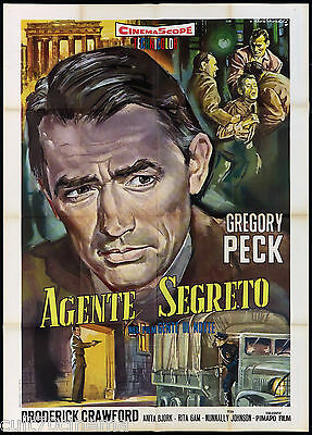 Agente Segreto (Gente Di Notte) Manifesto Cinema Night People Movie Poster 2F