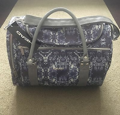 BNWT Head St Moritz Living Water Holdall Gym Sports Travel Bag - Ice Blue/Grey