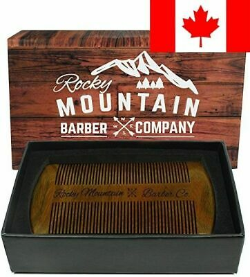 Beard Comb - Natural Organic Sandal Wood for Hair - Scented Fragrance Smell w...