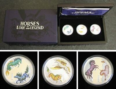 Horses of Lore and Legend Tuvalu 2014 3X1 $ 1oz Silber Pferd Silber Horse Silver
