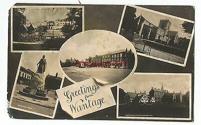 Oxon Wantage Multiview Real Photo Vintage Postcard 4.11