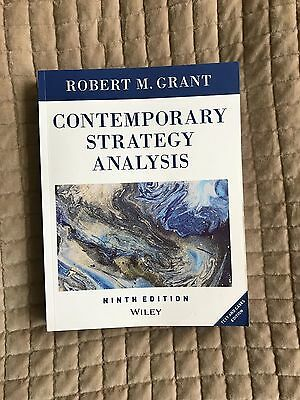 Libro CONTEMPORARY STRATEGY ANALYSIS, 9th Edition, WILEY