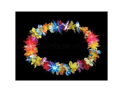 LED Hawaii-Kette multicolor Blumenkette Karnevall Fasching Mottoparty Südsee