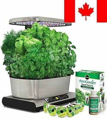 Miracle-Gro AeroGarden Harvest Elite with Gourmet Herb Seed Pod Kit, Stainles...