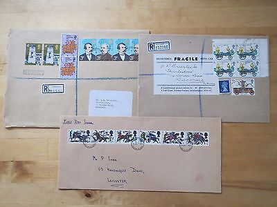 3 FDC & REGISTERED LETTER COVERS 1960/70s