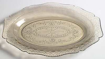 "Federal Glass Company PATRICIAN AMBER 11 1/2"" Oval Platter 124541"