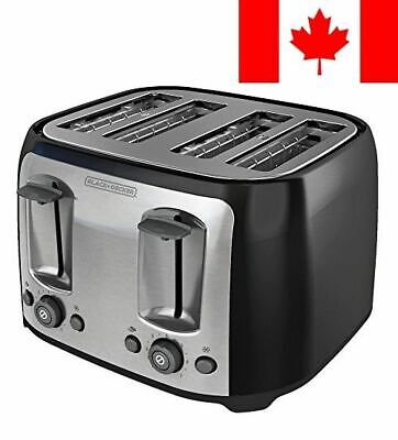 BLACK+DECKER TR1478BD 4-Slice Toaster, Black