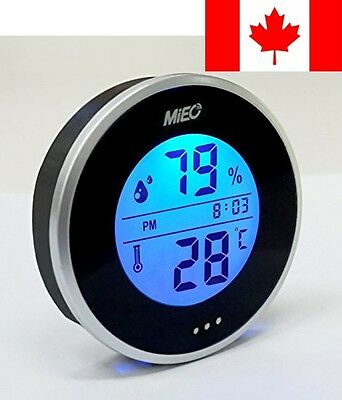 MIEO Round Digital Hygrometer Thermometer for Appliance Humidify Accessory HH...