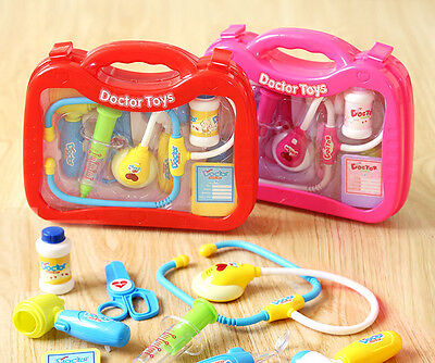 Pretend Play Kids Educational Doctor Case Kit Medical Set Hospital Supplies Toy
