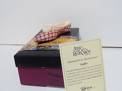 NIB Raine Just The Right Shoe TUFFLES 25086 Mini Collectible Shoes JTRS