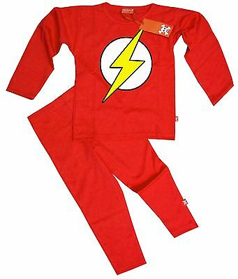 Ethical Kids Childrens Boys Girls The Flash Bazinga Pyjamas Pajamas (Red)