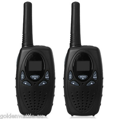 2x LED 5KM 8 Canal Lits Gamme Talkie Walkie Double Band UHF400-470MHZ Radio NOIR
