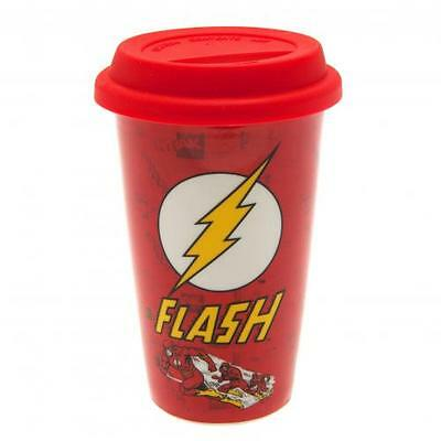 Official Licensed Product The Flash Ceramic Travel Mug Cup Coffee Gift Fan New