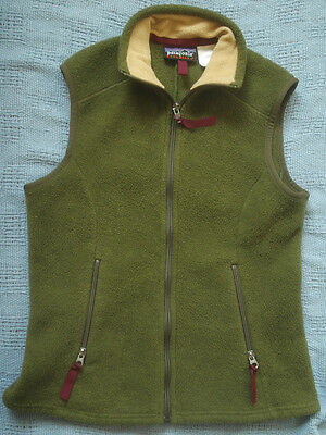 PATAGONIA Synchilla Fleece Vest Womens XS Olive Green Sleeveless Jacket X-Small