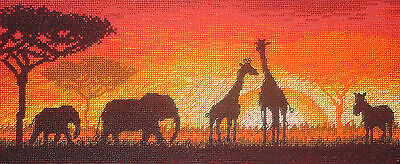 Maia Completed Counted Cross Stitch Tapestry Unframe Picture African Horizon