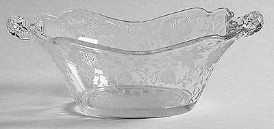 Cambridge WILDFLOWER CLEAR 3400/1181 Handled Bon Bon Dish 7164369