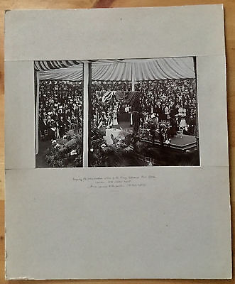 Black And White Photograph Laying The Foundation Stone King Edward Po 1905