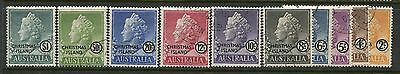 Christmas Island complete 1958 set to the $1 CDS used