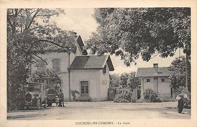 Cpa 57 Courcelles Chaussy La Gare