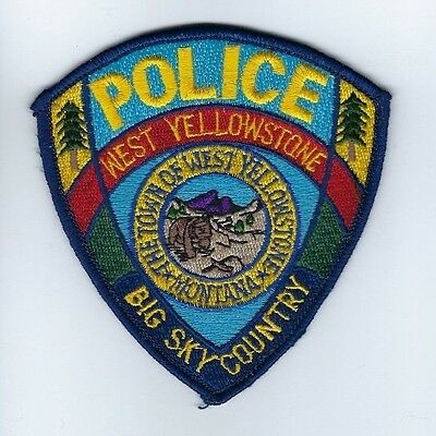 West Yellowstone (Gallatin County) MT Montana Police Dept. patch - NEW!
