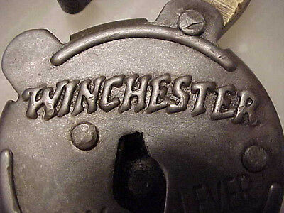 Antique Vintage Old Looking Winchester Six Lever Pad Lock Steel Case Brass Key