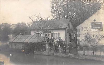 Cpa 45 Montargis Carte Photo Situee Au Magasin Cycles Et Motocyclettes F.narcy A