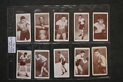 W.a. & A.c.churchman 1938 Boxing Personalities Complete Set In Plastic Sleeves