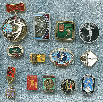 Russia USSR HAND BALL 12 Pin Badge Medal
