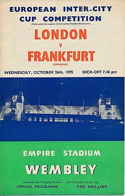 LONDON v Frankfurt (Fairs Cup @ Wembley Stadium) 1955