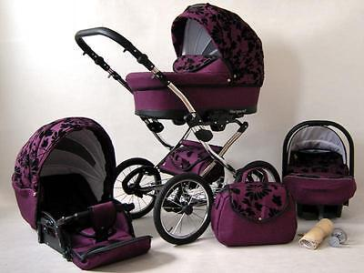 Baby Pram Pushchair Stroller 3 in 1 Travel System Buggy + Car Seat 11 Colours