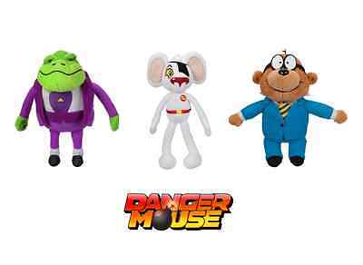 Full Set! Danger Mouse Talking Plush Toys Danger Mouse Penfold & Baron Greenback