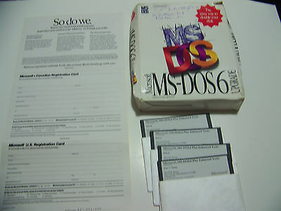 """NEW!! Microsoft MS-DOS 6 Upgrade on 5.25"""" Floppy Disk, FREE SHIPPING!!"""