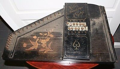 Antique ~Vintage ~Original Mullers Accordzither ~Erato ~Zither ~Decorative ~VGC
