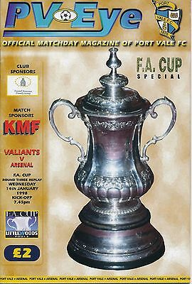 PORT VALE v Arsenal (FA Cup) 1997/8 - AFC Cup Winners!