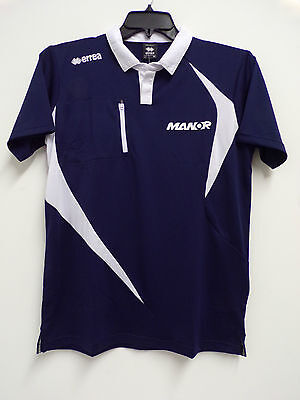 F1 Manor Racing Team Issue Factory Polo Shirt Mens Large