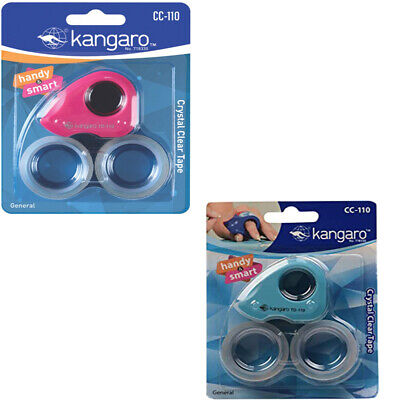 Set of 2 MINI TAPE DISPENSER DESKTOP OFFICE SELLOTAPE STICKY CELLOTAPE