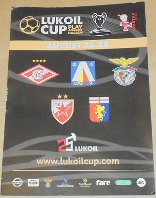 YOUTH TOURNAMENT LUKOIL CUP 2016 official programme U-12 SPARTAK GENOA BENFICA