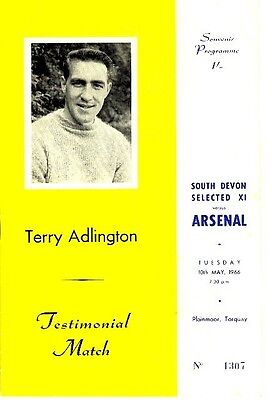 SOUTH DEVON X1 v Arsenal (Adlington Testimonial) 1965/6