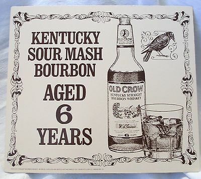 Vintage OLD CROW AGED Kentucky Bourbon Whiskey Alcohol Bar Restaurant Print Ad