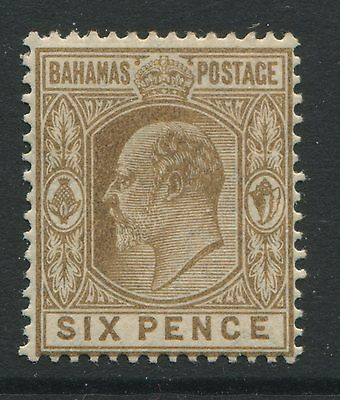 Bahamas 1911 KEVII 6d bistre brown mint o.g. hinged