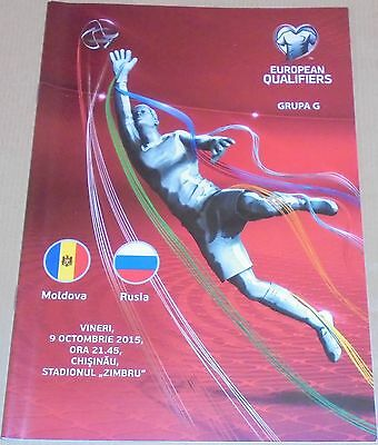 MOLDOVA - RUSSIA 2015 official programme friendly game