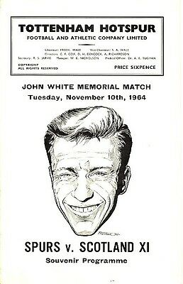 TOTTENHAM v Scotland X1 (John White Memorial) 1964