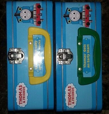 2 Thomas The Tank Engine Circus Train Tin Lunch Box Puzzles