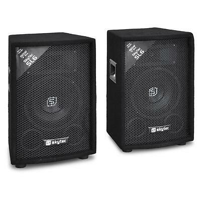 "Pair 6"" Bedroom Dj Party Mobile Disco Passive Speakers 300W 2-Way Pa New"