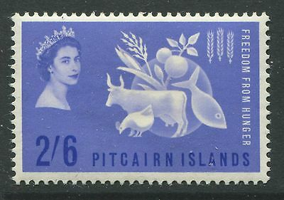Pitcairn Island 1963 QEII 2/6d Freedom from Hunger mint o.g. hinged