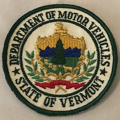 """DEPARTMENT OF MOTOR VEHICLES, STATE OF VERMONT patch. 4"""""""