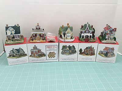 Lot of 5 Liberty Falls Christmas Village Buildings All from 1998 Collection