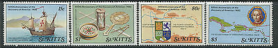 St. Kitts 1989 Discovery of America set of 4 mint o.g. hinged