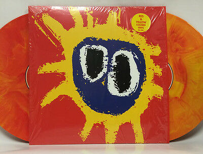 """Primal Scream - Screamadelica 12"""" Red And Yellow Limited Vinyl, Rare"""