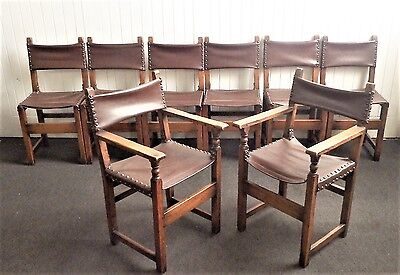 A good quality Antique style SET OF 8 dining chairs